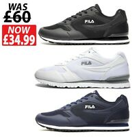 FILA Forerunner Mens Trainers Shoes - WHITE / NAVY / BLACK - SIZE 6 to 12 *NEW