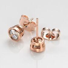 Women Earrings Lovely Ear studs 18k Rose Gold Filled Fashion Jewelry Gift
