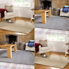 Solid Patterned 100% Wool Rugs