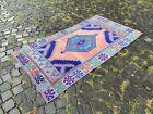 Turkish rug, Vintage rug, Area Rug, Wool rug, Handmade rug   3 x 6 ft