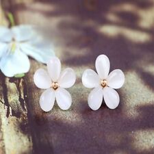 Earrings Flowers White Ear Stud Earring Sakura Flower Earrings Opal Earring