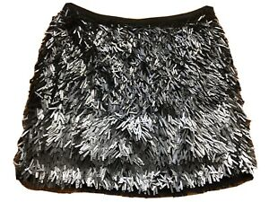 Zara sparkly sequence black & Silver skirt, size small