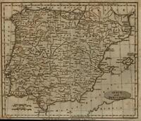 Spain Portugal c.1800 American engraved A. Anderson map
