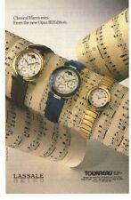 1989 Lassale Seiko Watch Tourneau Advertisement