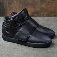 Adidas Originals Tubular Invader Strap Men's Sneaker Leather Black Shoes Sz 10.5