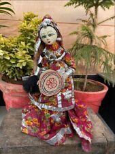 Vintage Ethnic Old Hand Made Terracotta Head Doll Figurine Figure