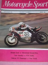 Motorcycle Sport 09/76 Honda 750 Super Sport & SL125, New Suzukis, James Comets