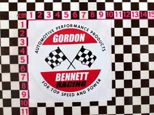 Gordon Bennett Racing Autocollant-Oldtimer Old Skool Hotrod BRITISH CLASSIC CAR