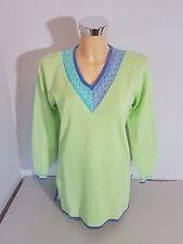 HAUBER  Damen  Pullover  Pulli  Gr. 36 / 38  grün  Baumwolle  Langarm  WIE NEU