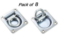 8 x Cargo Lashing Rings Tie Down Anchor Recessed Trailer Floor Ifor Williams HGV