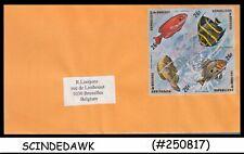 BURUNDI - 1974 Envelope to  BELGIUM with FISH SE-TENANT Stamps