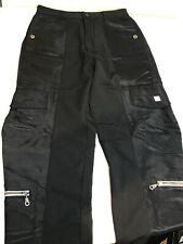 Marithe Francois Girbaud Women's 7 Pocket Cargo Pants Trousers Black Size 6 EUC