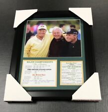 JACK NICKLAUS, ARNOLD PALMER, GARY PLAYER FRAMED 8X10 PHOTO MT RUSHMORE