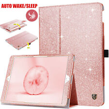 For iPad 7th Generation 10.2 Case Protective Glitter Stand Hard Smart Cover