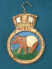 HMS Royal Navy Ship Crest Shield Plaque