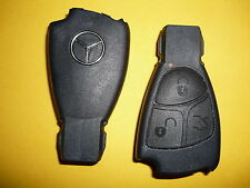 Mercedes 3 bouton key fob case shell remote cover c e s ml cl clk cls slk