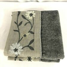 Avanti Radiance Washcloth Set Of 4 Floral Gray Nickel