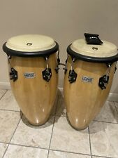 More details for pair of toca kaman player series conga drums in pine percussion instrument