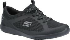 Skechers SK104028 Lolow black ladies slip on mesh sports gym trainers shoes