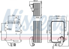 Ölkühler, Motoröl NISSENS 90807 für AUDI VW