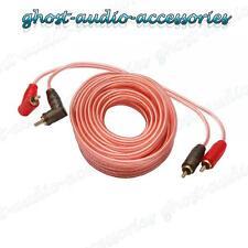 5m Rca / 5 Metros Phono Plomo / Cable Car Amp / Amplificador Blindado