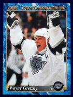 Wayne Gretzky Highlight 1993 Score American Hockey Card #662 HOF
