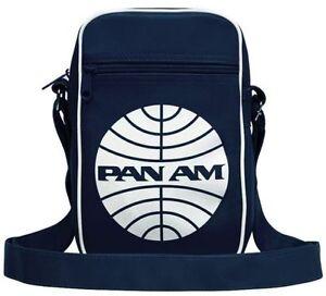 USA Airline - Pan Am Logo - Retro - Small - Cabin - Messenger - Bag - deep navy