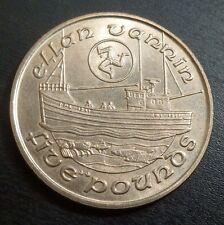 Isla de man IOM virenium cinco libras £ 5 1990 AA barco de pesca