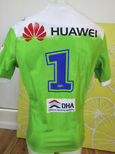 CANBERRA RAIDERS 2016 HAROLD MATTHEWS CUP JERSEY PLAYER-ISSUE NO. 1 GPS PK
