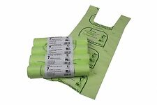 7 Litre Tie Handle x 200 Compostable Caddy Liners - 4 Rolls - Caddy Bags