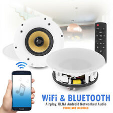 Powered WiFi Bluetooth Ceiling Speakers Multi Room Wireless Audio Streaming Air