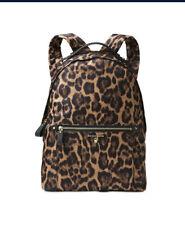 Michael Kors Leopard Print Kelsey Backpack Large