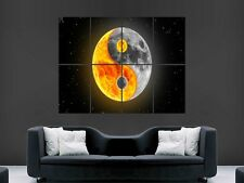 SUN MOON YIN AND YANG  LARGE  WALL PICTURE POSTER  GIANT