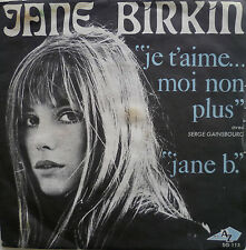 "7"" JANE BIRKIN Je t´aime moi non plus (RARE FRENCH AZ )"