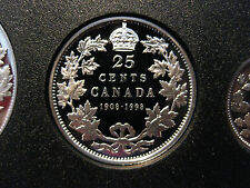 1998 Canadian Silver Proof Quarter ($0.25) - 90th Anniversary 1908-1998