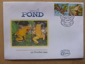 1999 APLHA SMALL POND FROGS 2 STAMPS ILLUSTRATED FIRST DAY COVER #2