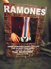 Metal sign The Ramones Top 40 New York Bands July 16-27 1975 keepsake music