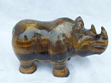 Gravur Tigerauge Nashorn 0,96 kg