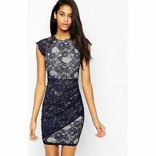 Lace Round Neck Party Dresses