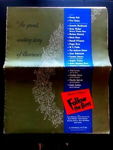 "Follow the Boys Pressbook w/ Ad Insert (1944) - 16 Pages - 17"" x 21"""