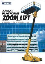 Equipment Brochure - Tadano - Ap-122Tg / 92Tg Aerial Platform Zoom Lift (E3902)