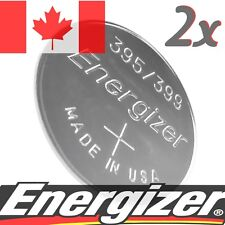 2 Pcs Energizer 395 399 D395 SR927SW D399 Silver Oxide Watch Coin Cell Battery