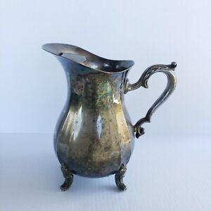 Oneida Silver Plated Footed Water Tea  Pitcher/Flower Vase Vintage