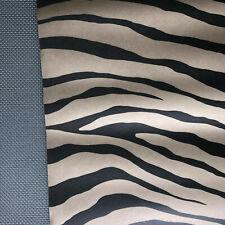 "Osborne & Little Wallpaper Mara W5873-01 11 Yds X 20.5"" Bronze 6 Rolls Zebra"