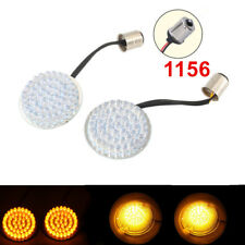 """Hot Sale 2"""" 1156 Turn Signals Amber LED Lights For Harley Sportster Softail Dyna"""