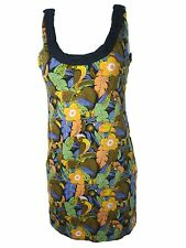 Motel Caitlyn Dress Tropical Parrot Animal Print Floral Rocks Bnwt New S – UK 10