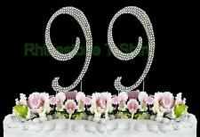 NEW Large Rhinestone  NUMBER (99) Cake Topper 99th Birthday Party Anniversary