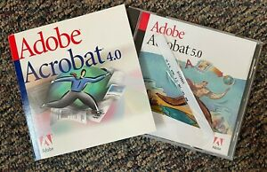 Adobe Acrobat 4.0 full-version and 5.0 upgrade for Mac with Serial Number