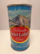 GOLD LABEL STRAIGHT STEEL PULL TAB BEER CAN #69-29  TUFF  DARK BLUE BACKGROUND