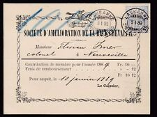 La Suisse 1889 société de la race chevaline illustré carte application